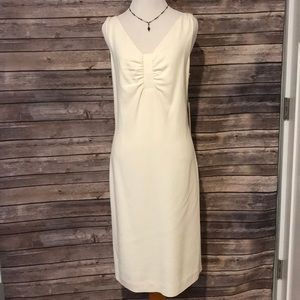 Worth Winter White V Front and Back Dress 12P